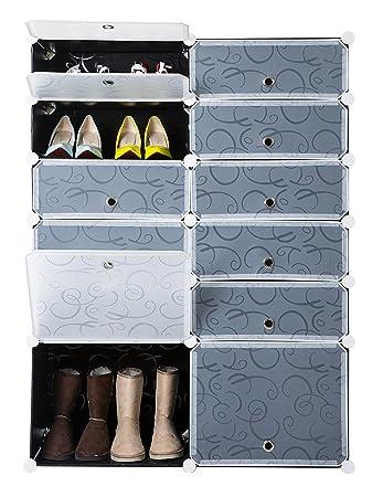 Superieur Finnhomy DIY 12 Cube Organizer Shoes Storage Cabinet Bookcase Storage  Organizer Modular Storage Cabinet Wardrobe Closet