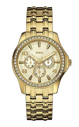 Amazon.com: Guess W0147L2 de tono oro pulsera de acero y ...