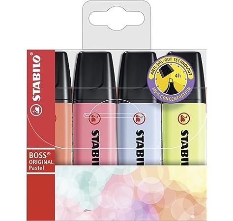 Marcador STABILO BOSS ORIGINAL Pastel - Estuche con 4 colores ...