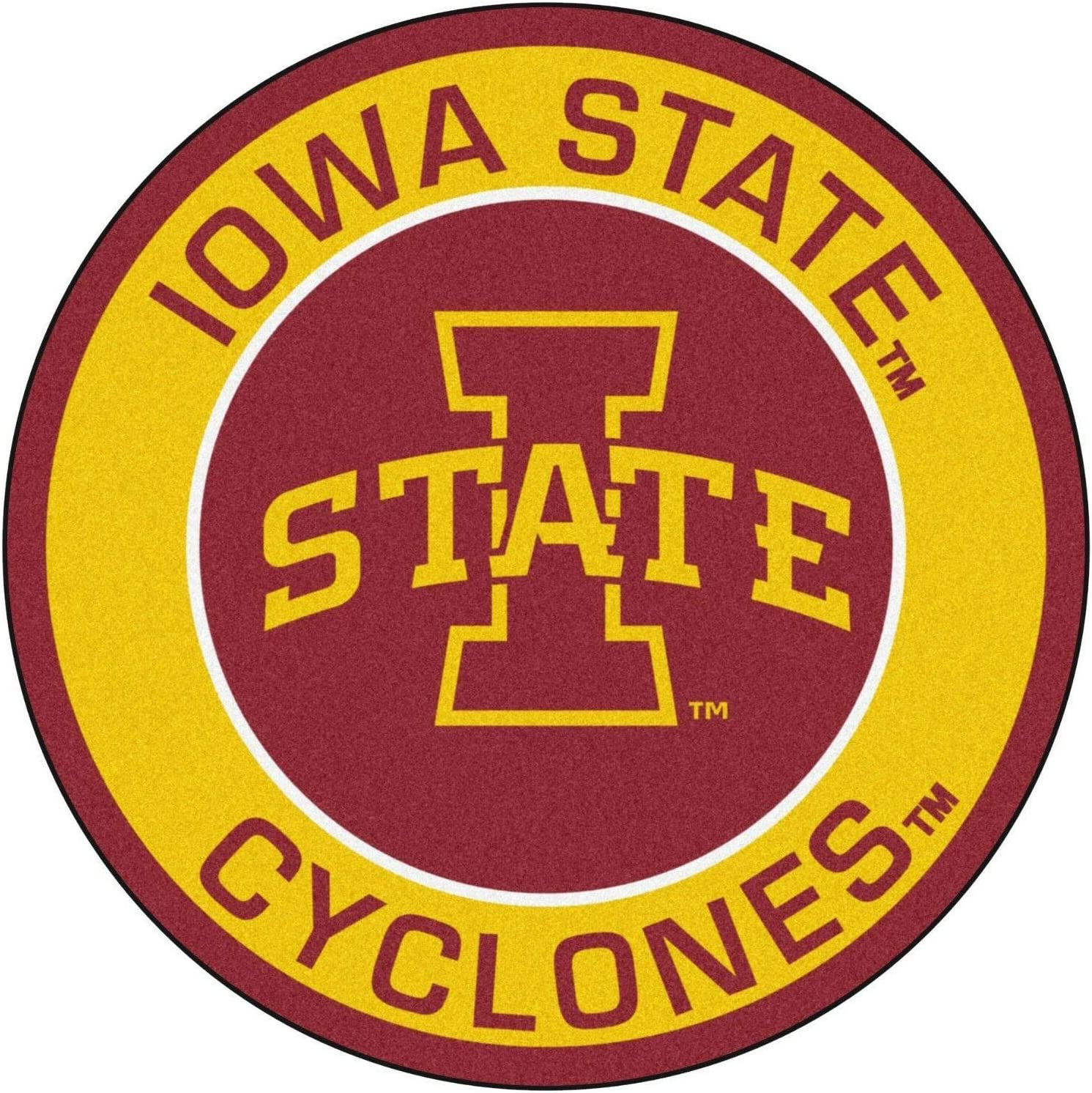 5- Sizes Circle Logo 3 in Iowa NCAA Football Iowa State Cyclones Football Sticker Waterproof Iowa State University Stickers Decal Vinyl