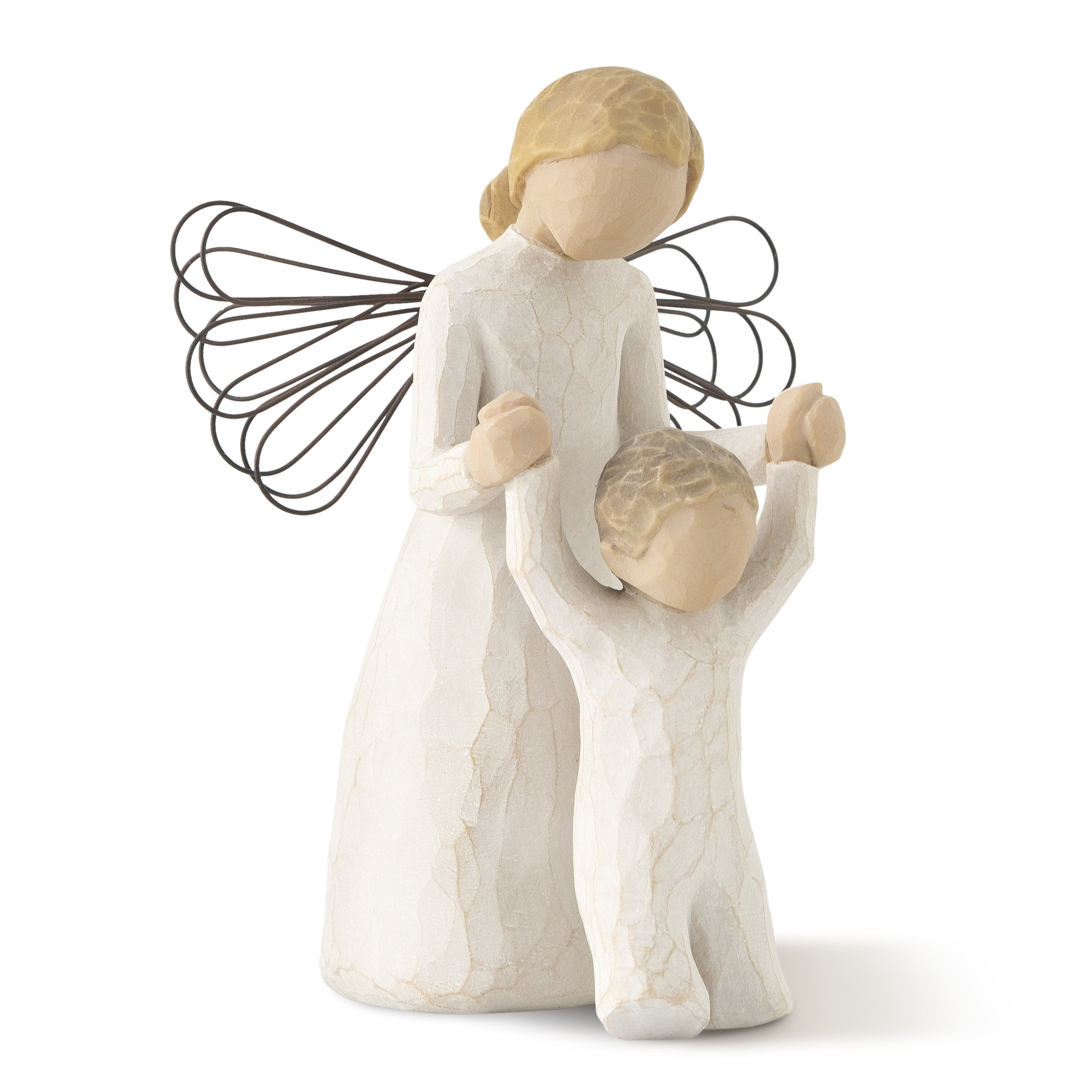 Willow Tree hand-painted sculpted angel, Guardian Angel by Willow Tree