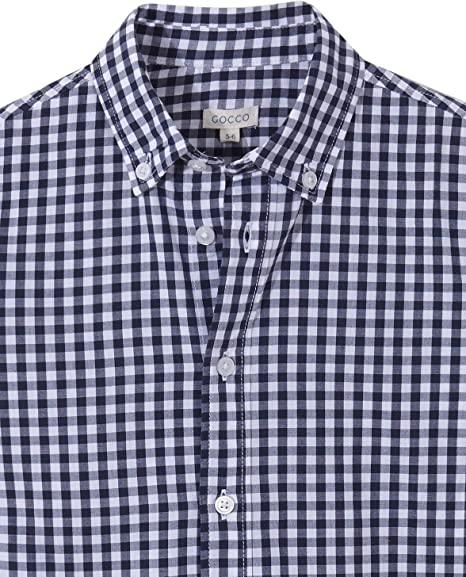 Gocco Jungen Camisa Mao Lino Azul Marino Businesshemd