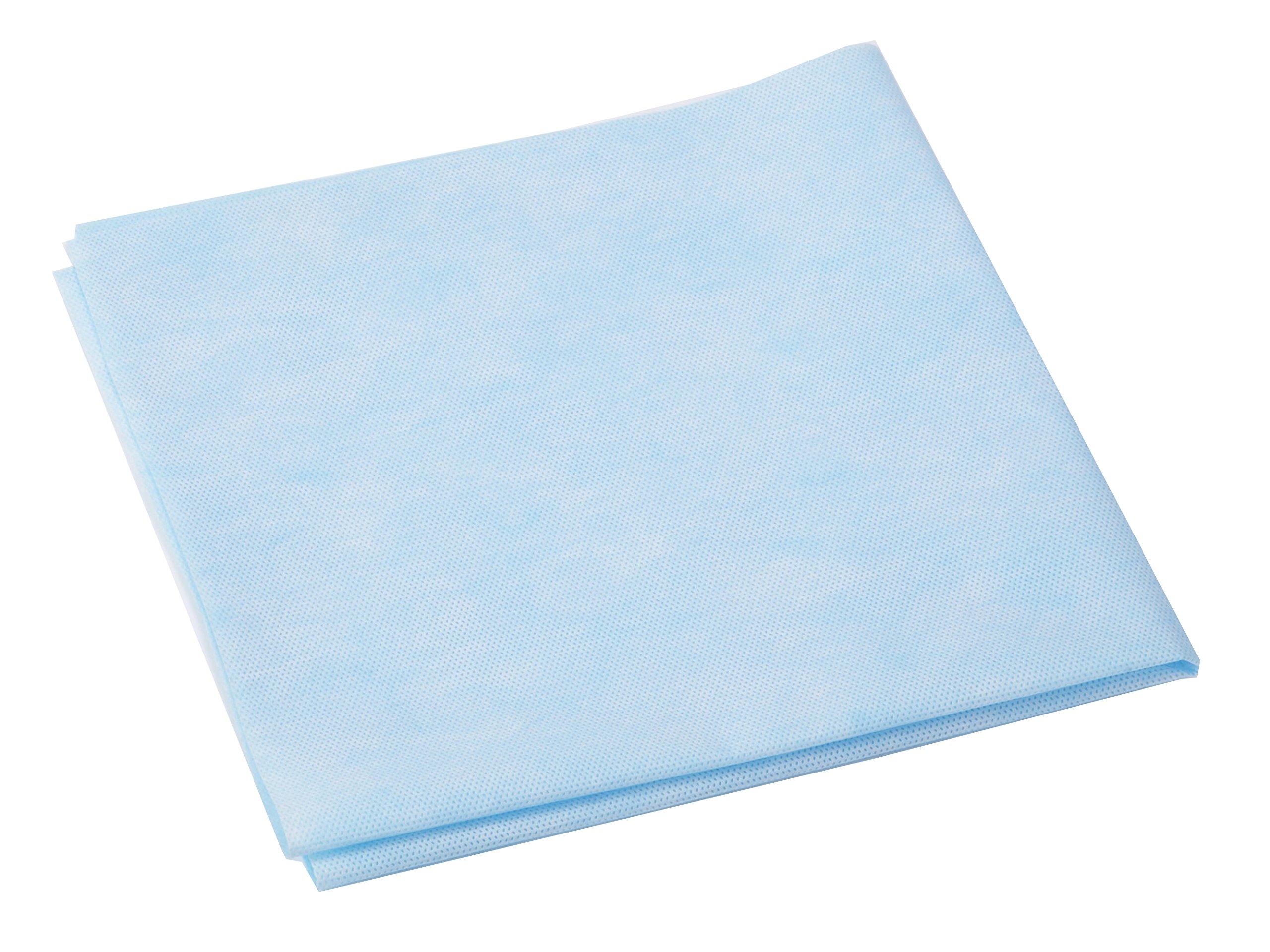 Medline GEM1124 Lightweight Surgical Instrument Sterilization Wraps, 24'' x 24'', Blue (Pack of 500)