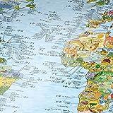 Surf Trip Carte du monde–Surf Spots dans le monde entier poster mural Surfer Poster Carte de voyage