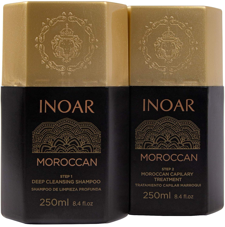 INOAR PROFESSIONAL - Smoothing System - Deep Cleansing Shampoo & Treatment Set (8.45 fl. oz.)