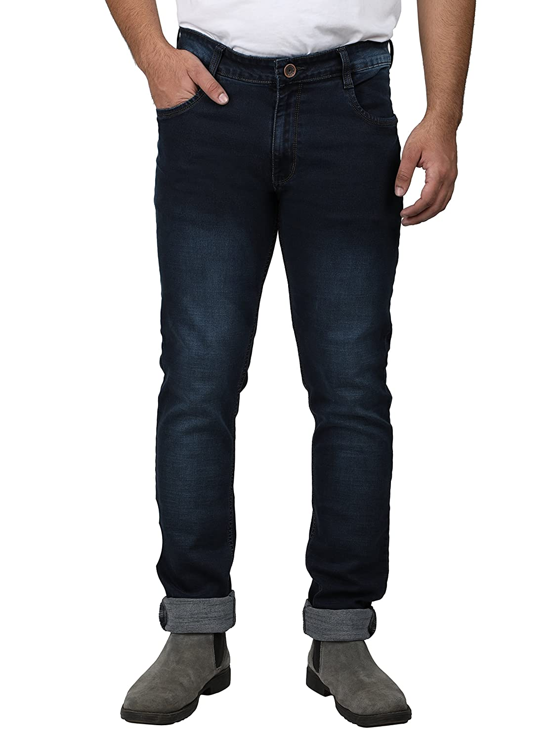 Buy Asaba New Jeans Strechable Denim For Men Slim Fit Casual Straight 8135 Designer Denim Blue Color Fashion Branded Mens Great Quality Best Price Comfort Fitting Size 40 Plus Size Gents Range