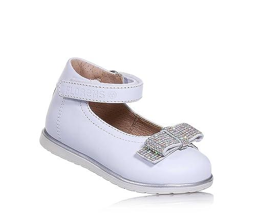 Florens Mocasines Para Niña Blanco Size: 21 EU: Amazon.es: Zapatos y complementos