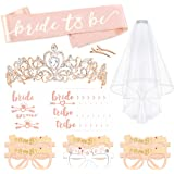 Rose Gold Bachelorette Party Decorations Kit, Konsait Bridal Shower Favor Supplies Gift Hen Party Bachelorette…