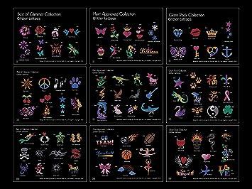 New Glimmer Body Art Temporary Tattoo 75 Stencils 2 Glues Amazon In Toys Games