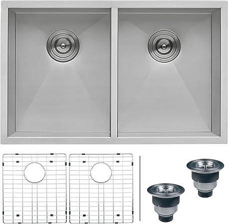 """30/"""" x 16/"""" Single Bowl Stainless Steel ZERO RADIUS Undermount Kitchen Sink COMBO"""