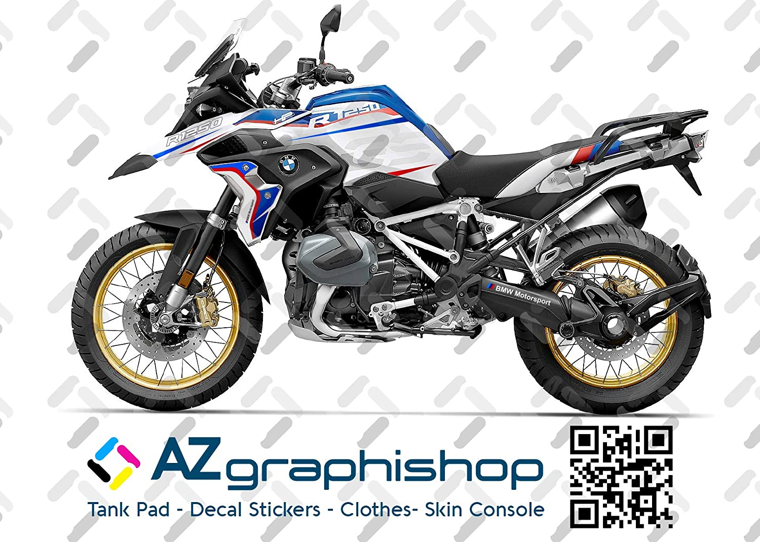 /Black R1200GS/ /Reflective Stickers for Motorcycle Handlebars and Mudguard with the inscription GS/