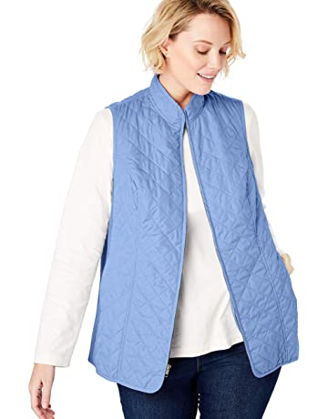 41a4a5c0767d52 Woman Within Women s Plus Size Zip-Front Quilted Vest