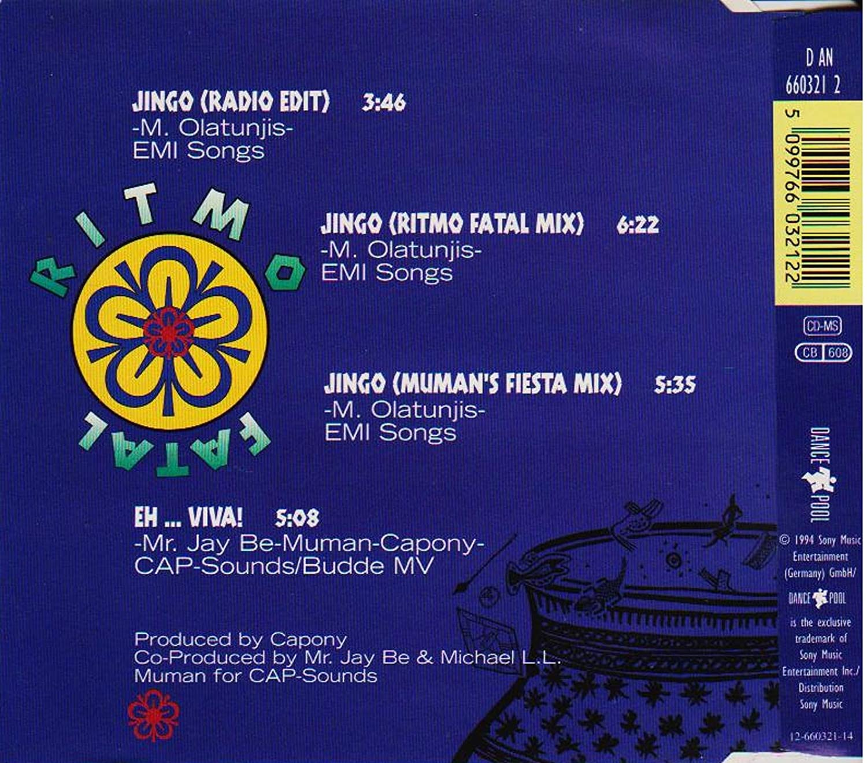 Ritmo Fatal Jingo Single Cd Amazoncom Music