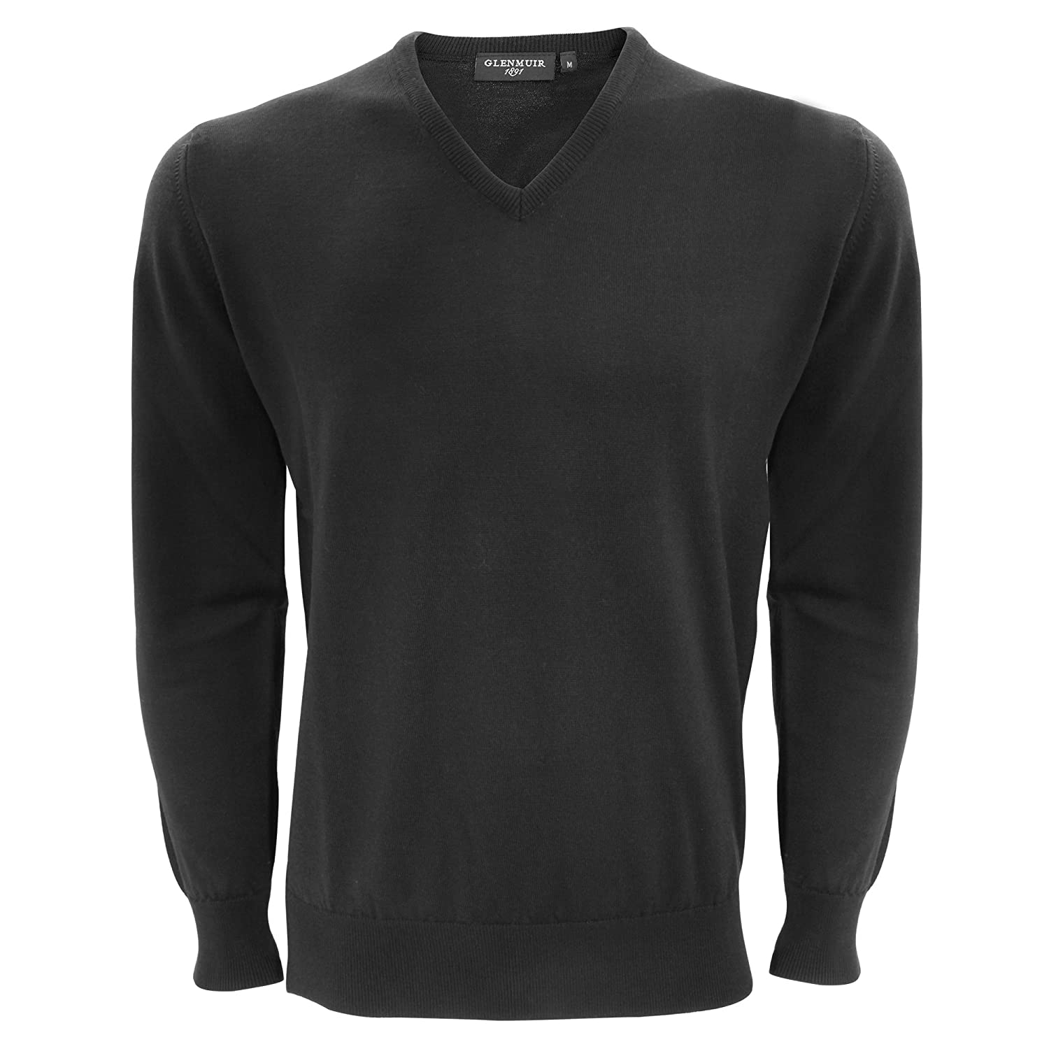 Glenmuir Mens V-Neck Merino Wool Sweater/Sweatshirt