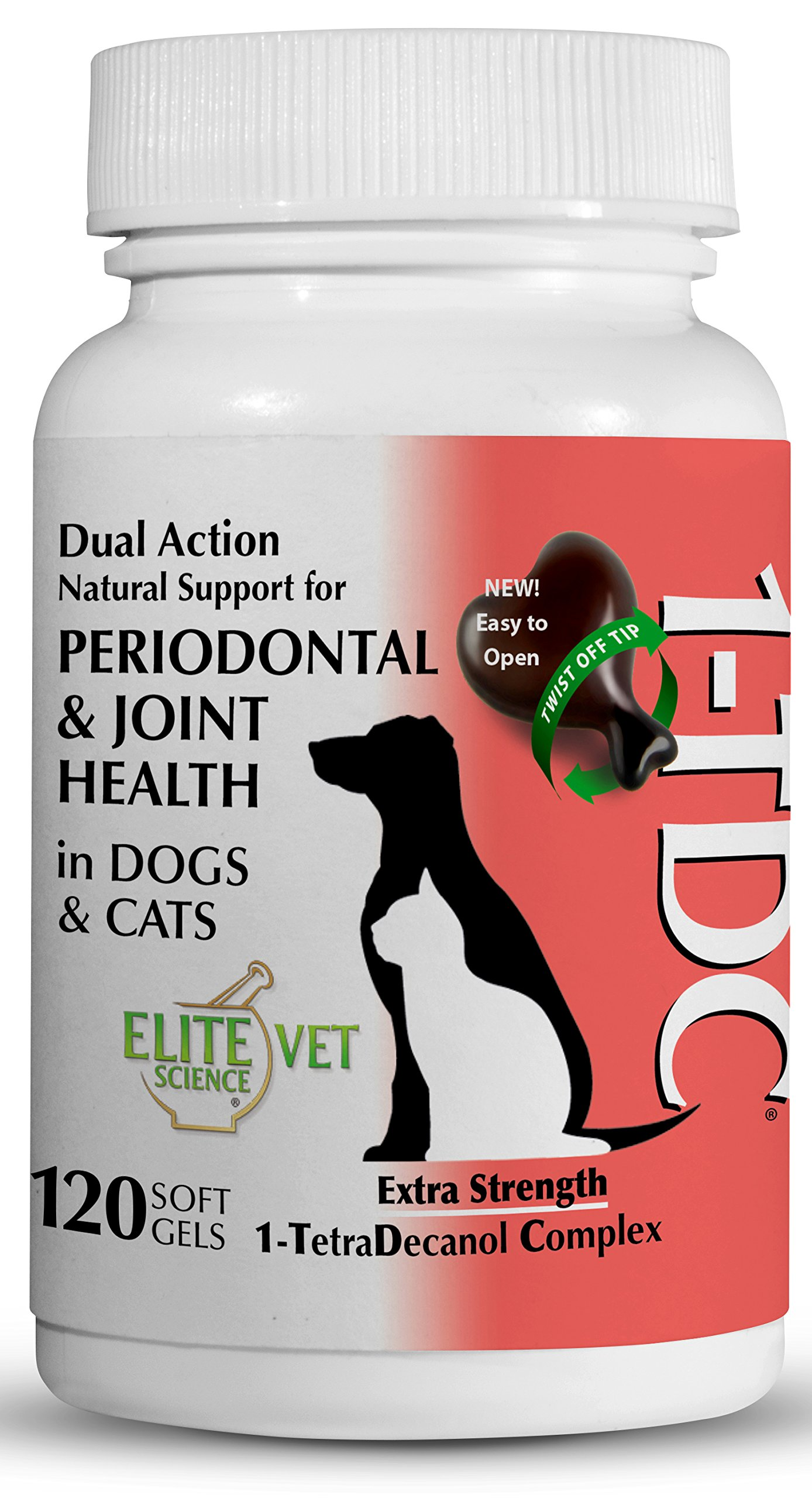 1TDC Dual Action Natural Support – 120 Twist Off Soft Gels | Delivers 4 Major Health Benefits for Dogs & Cats | Supports Oral Health, Hip & Joint Health, Muscle & Stamina Recovery, Skin & Coat Health
