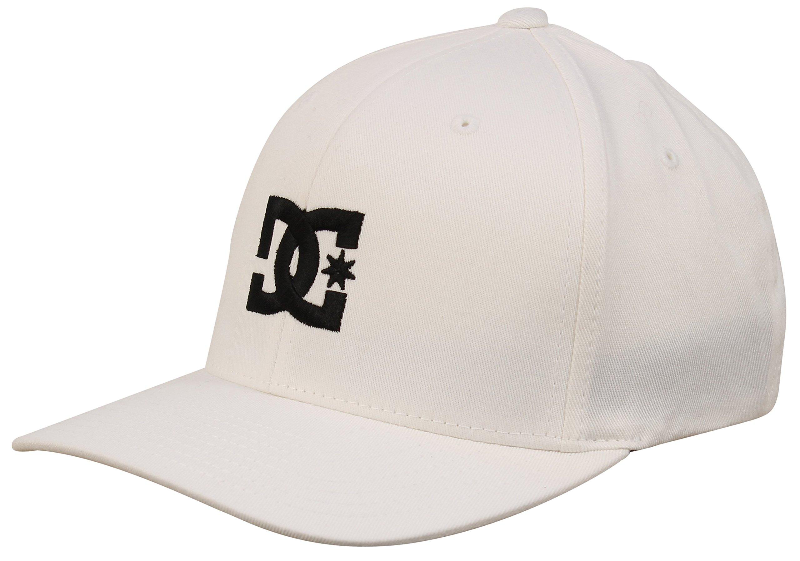 DC Men's Cap Star 2 Hat, White/Black, L/XL