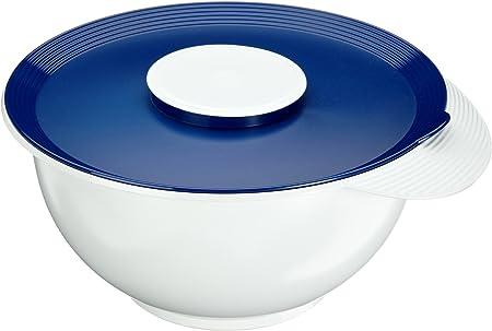 Bianco//Blu Emsa 2154251200 Superline Recipiente per Frullare con Coperchio