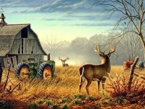 RENWUANG Jigsaw Puzzle -Adult Puzzles 1500 Pieces Wooden Puzzle- Farm Deer Tractor Pattern - Unique Gifts and Home Decorations Jigsaw