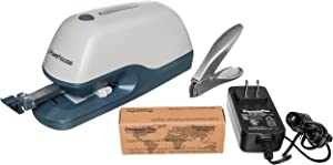 PraxxisPro Electric Stapler Heavy Duty Professional Office Stapler for Home, School and Business for 2 to 40 sheets, Includes Stapler Remover, Power Cord for AC power, and 5000 Standard Staples