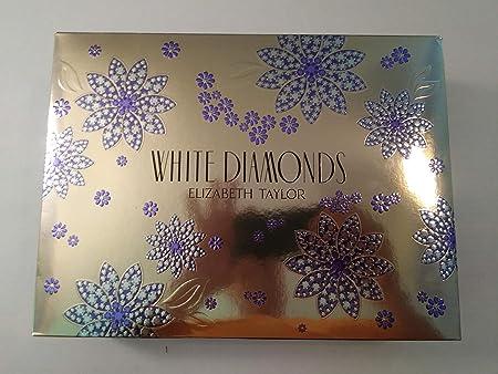 Elizabeth Taylor White Diamonds 4 Piece Gift Set for Women, 3.3 Ounce
