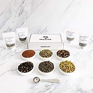 teawrks: Curated Fine Organic Tea, Botanicals and Herbal Wellness Tea Discovery Subscription Box: Variety Tea