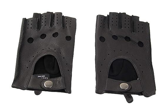 87d475f481b325 Zerimar Handschuhe Leder | Fingerlose Lederhandschuhe | Lederhandschuhe  Herren | Handschuhe fahren | Lederhandschuhe Herren Autofahrer