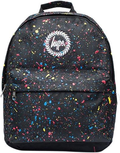 Hype Primary Embroidered All Over Logo Splat Backpack Rucksack Bag  Black Multi df25b7dbdb