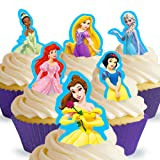 Cakeshop 12 x PRE-CUT Disney Princess Stand Up Edible Cake Toppers