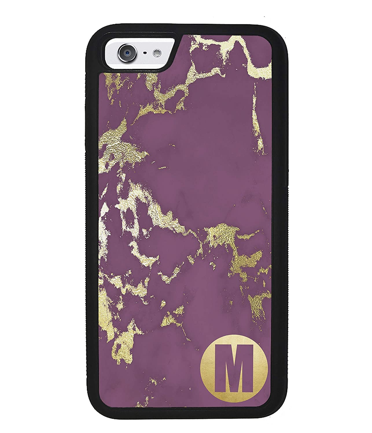 Personalised Purple and Gold Marble with Black Font