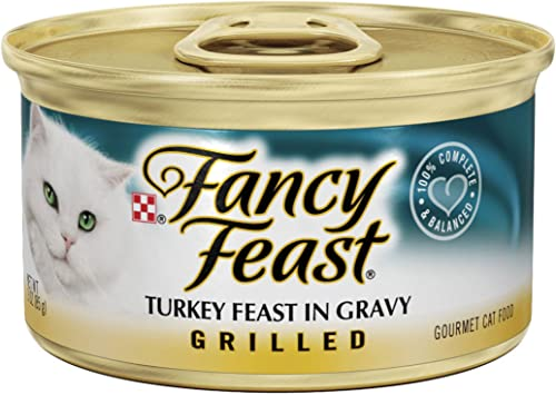 Grilled Turkey Cat Food Wet Cat Food 3-oz can,case of 24