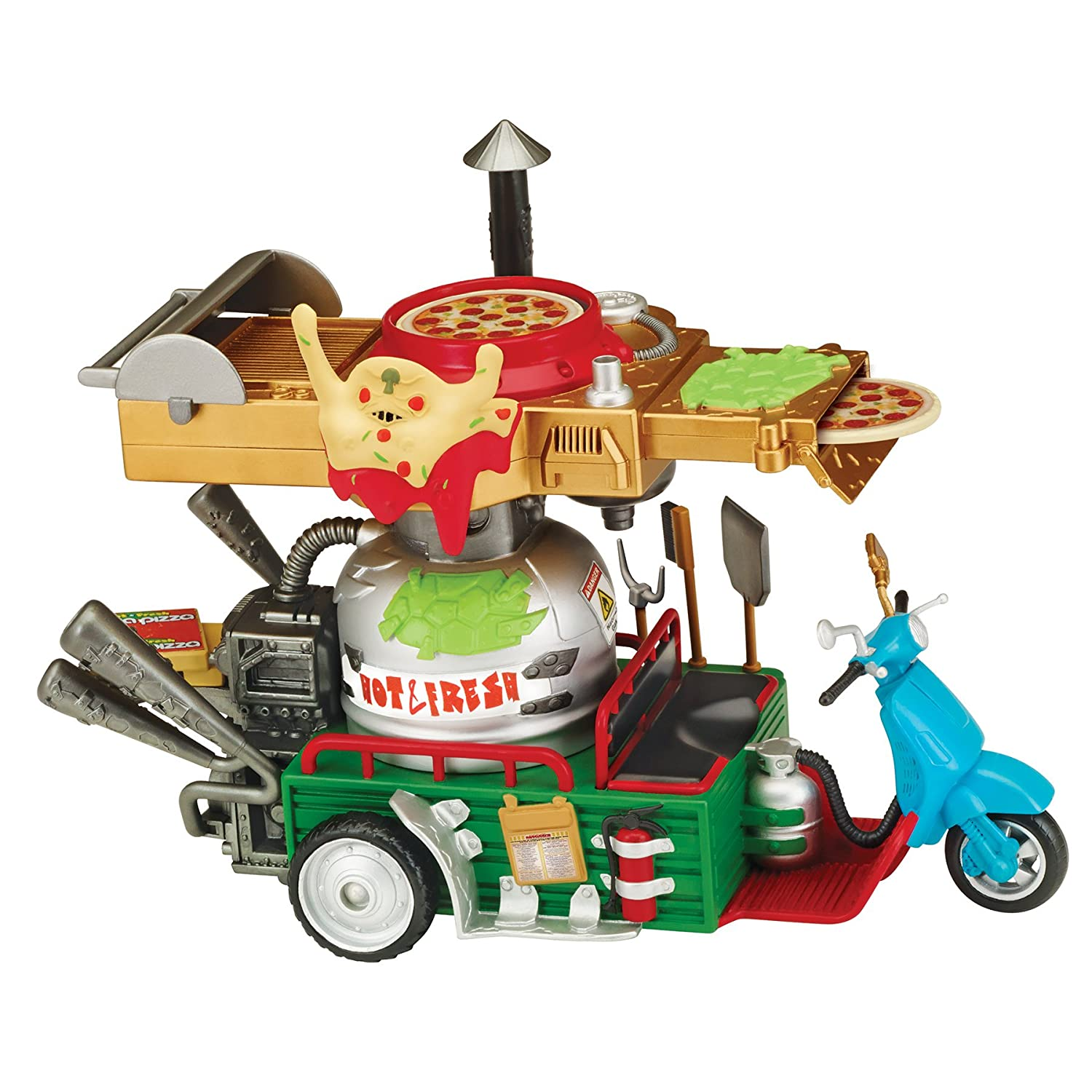 Teenage Mutant Ninja Turtles Pizza Thrower Vehicle: Amazon ...