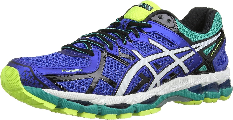 ASICS Gel-Kayano 21, Zapatillas de Running Hombre^Mujer, Azul (Blue/White/Flash Yellow 4701), 48.5 EU: Amazon.es: Zapatos y complementos
