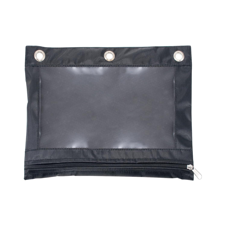 Advantus Zippered Binder Pencil Pouch with Rivet Enforced Holes, Black (67024) Advantus Corp.- Office