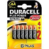 Duracell - Pila AA (blister 4 unidades + 2 de regalo)