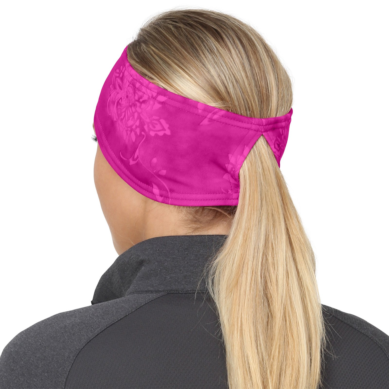 TrailHeads Women's Print Ponytail Headband – 12 prints - Made in USA - pink splash by TrailHeads (Image #5)