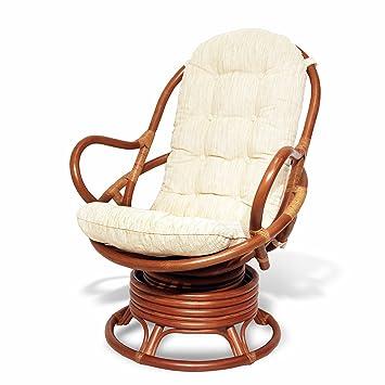 Amazoncom Java Swivel Rocking Chair Colonial with Cushion