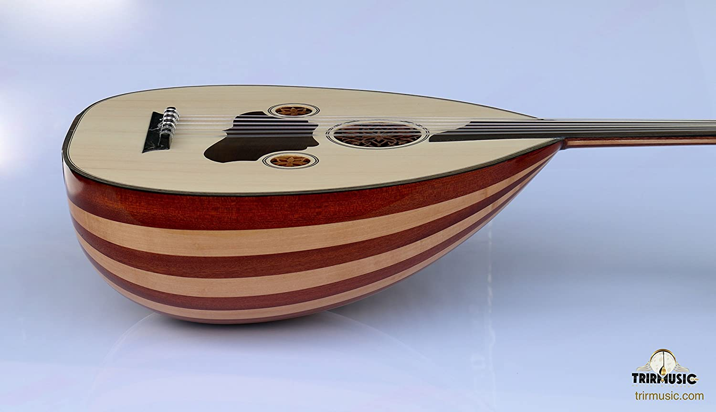 Turkish Oud Folk Instrument Guitar Lute 11 Strings Made in Turkey Gigbag Set