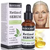 Retinol Sérum, Sérum avec Acide Hyaluronique, Vitamine E, Sérum anti-âge de la meilleure pour rides, ridules et l'acné, pour tous les types de peau, 30 ml