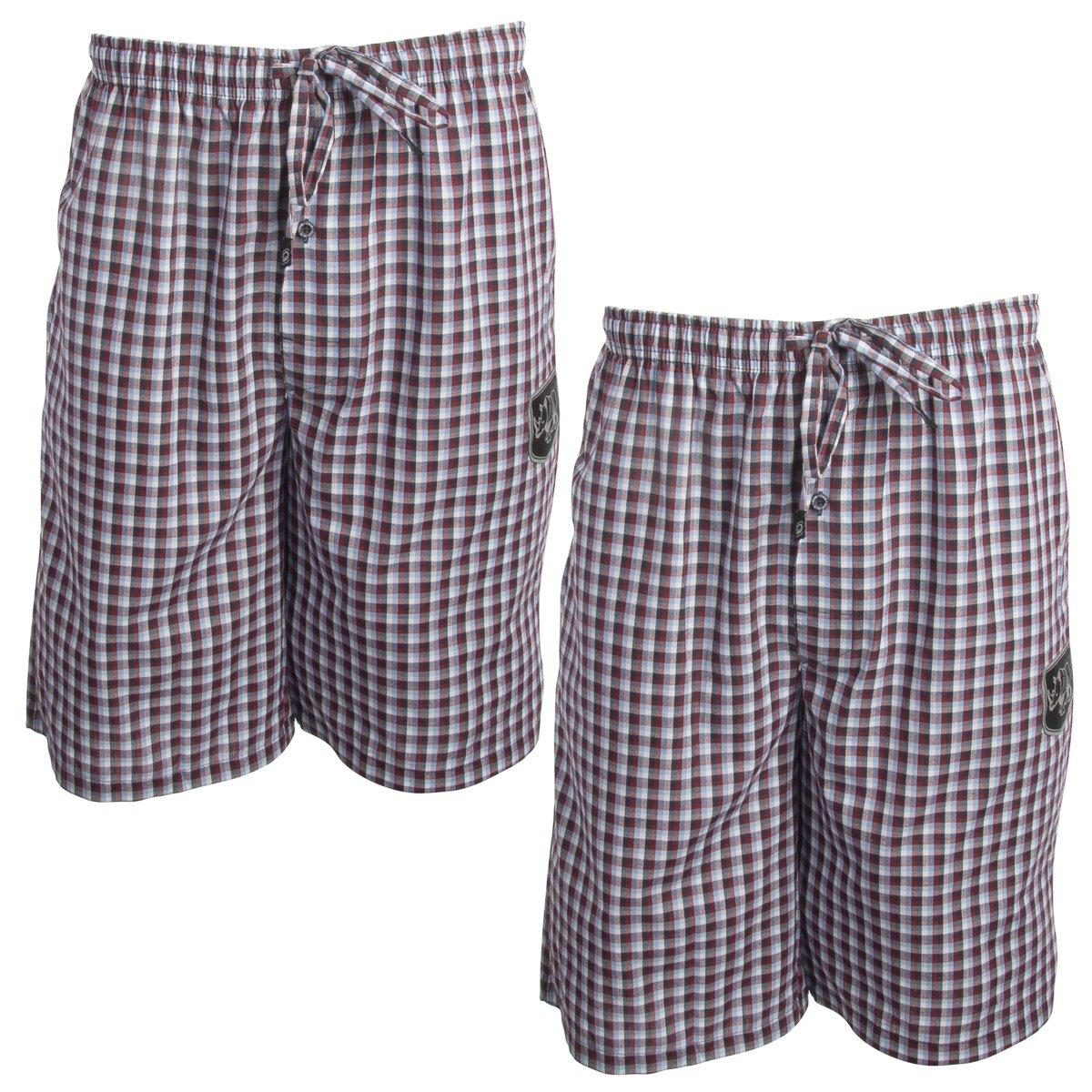 Ecko Unltd. (2 Pack Cool Cotton Pajama Shorts for Men Sleep Shorts Loungewear Sleepwear Home Travel