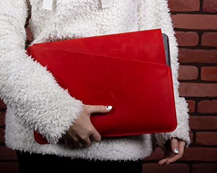 Amazon Leather Handmade Laptop Case Made Of Felt And Natural