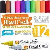Blami Arts 12 Pennarelli di Gesso Liquido con colori ORO metallico e ARGENTO