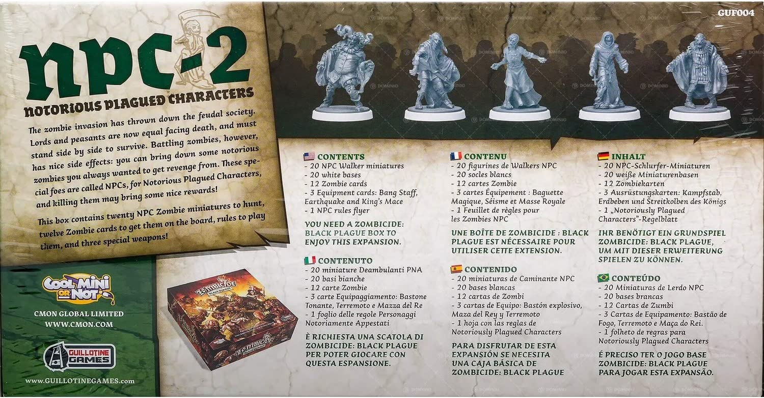 Edge 599386031 - Zombicide Black Plague. Notorious plagued Characters 2: Amazon.es: Juguetes y juegos