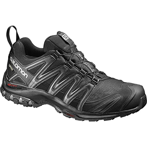 Salomon Speedcross Vario, Scarpe da Trail Running Uomo, Nero (Black/Magnet/Fiery Red 1), 47 1/3 EU