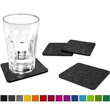 untersetzer fur glaser filu filzuntersetzer eckig 8er pack farbe wahlbar dunkelgrau aus filz fa 1 4 r tisch ikea