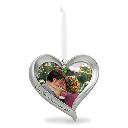 Hallmark Our First Christmas Ornament.Hallmark Keepsake 2017 Our First Christmas Loving Heart Picture Frame Dated Christmas Ornament