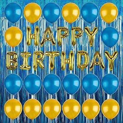 13 Letras De Oro Plata Feliz Cumpleaños Papel de Aluminio Globos Fiesta Decoración Globos