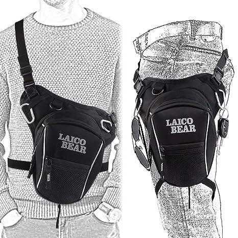 muslo y cintura para deportes estilo retro para deportes al aire libre senderismo de lona para motociclismo para hombre carreras Bolsa de lona para pierna
