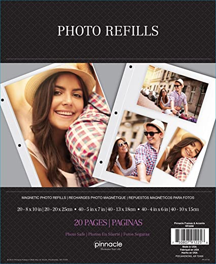 Pinnacle Rf2258 Magnetic Photo Album Refills 10 2 Sided Pages Pack