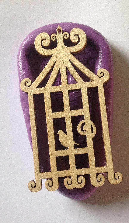Vintage Jaula de Pájaros silicona mould. mold. topper. Cupcake ...