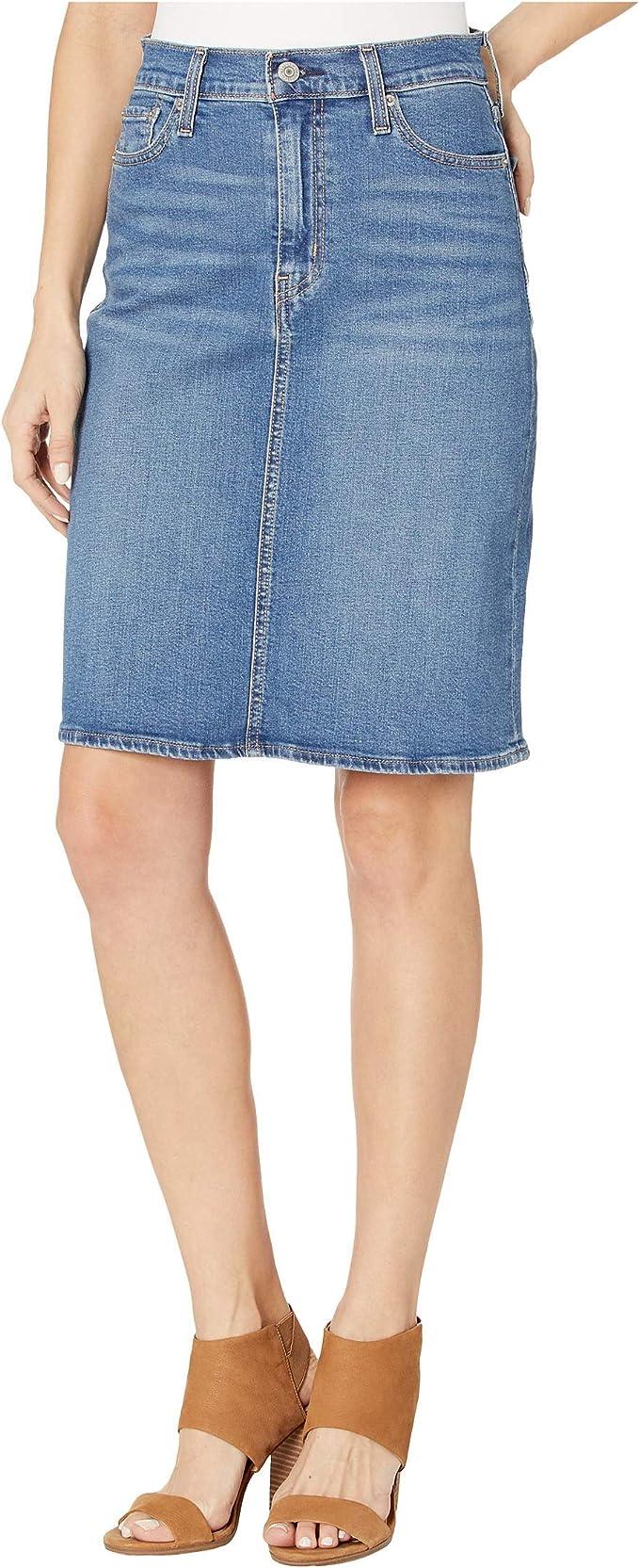Levis faldas clásicas para mujer - Azul - 32 ES: Amazon.es: Ropa y accesorios